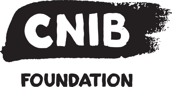 CNIB Foundation featuring black upper case lettering
