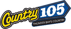 Country 105 logo. Text: Country 105 - Thunder Bay's Country