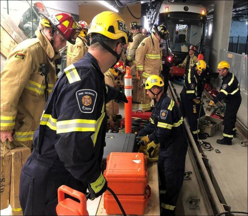 City of Ottawa first responders participate in training exercise.