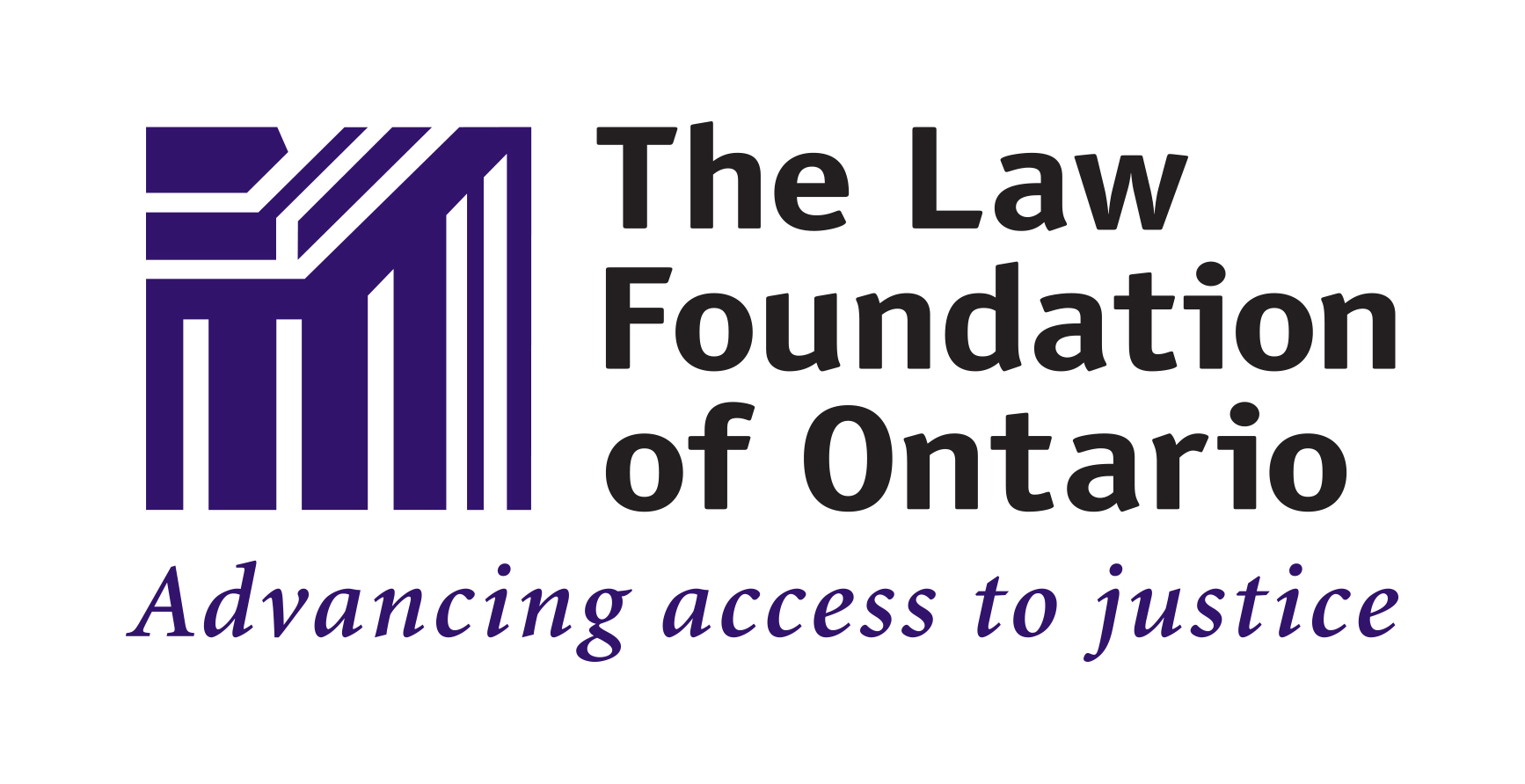 Logo: Law Foundation of Ontario. Text byline: Advancing access to justice.