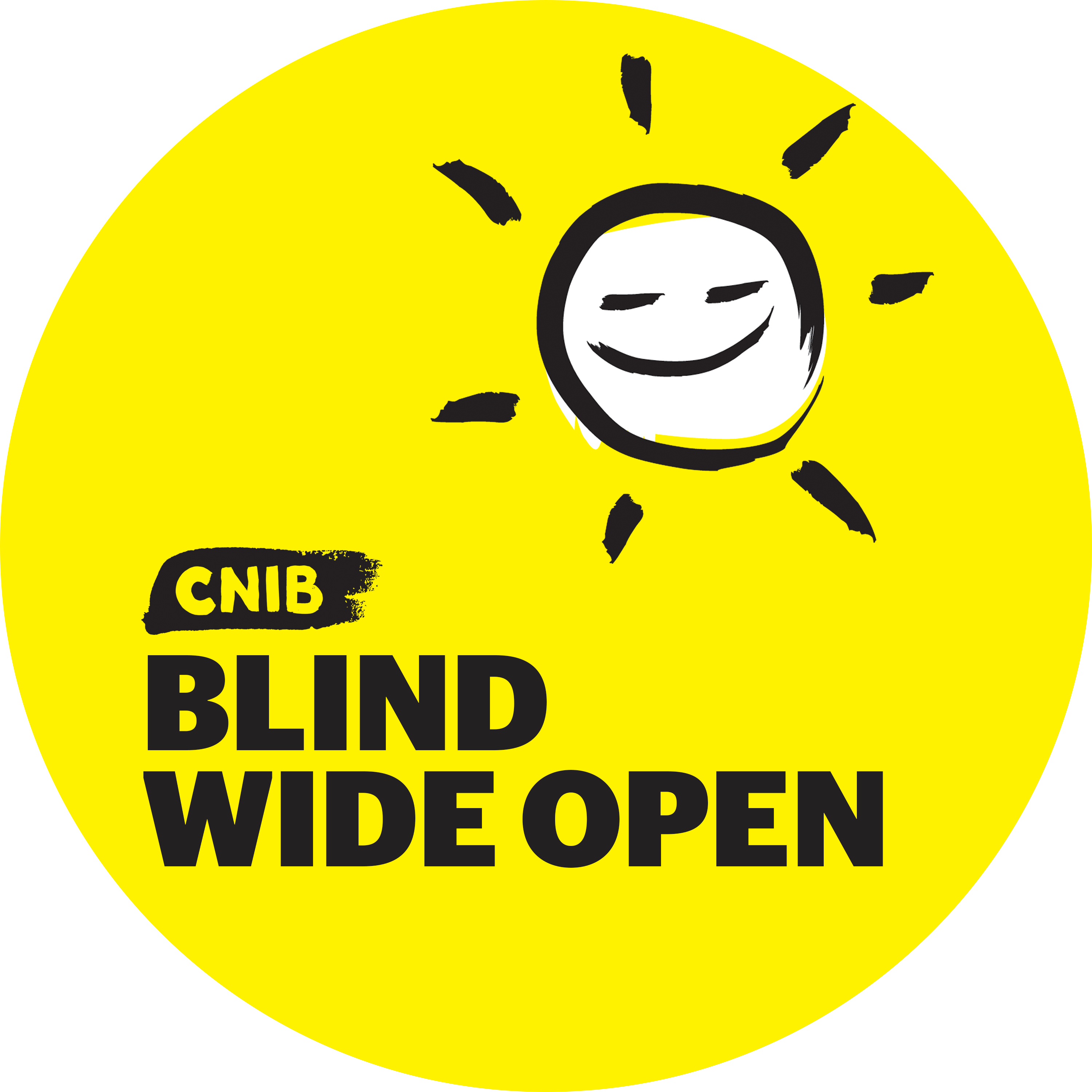 CNIB Blind Wide Open with sun icon.