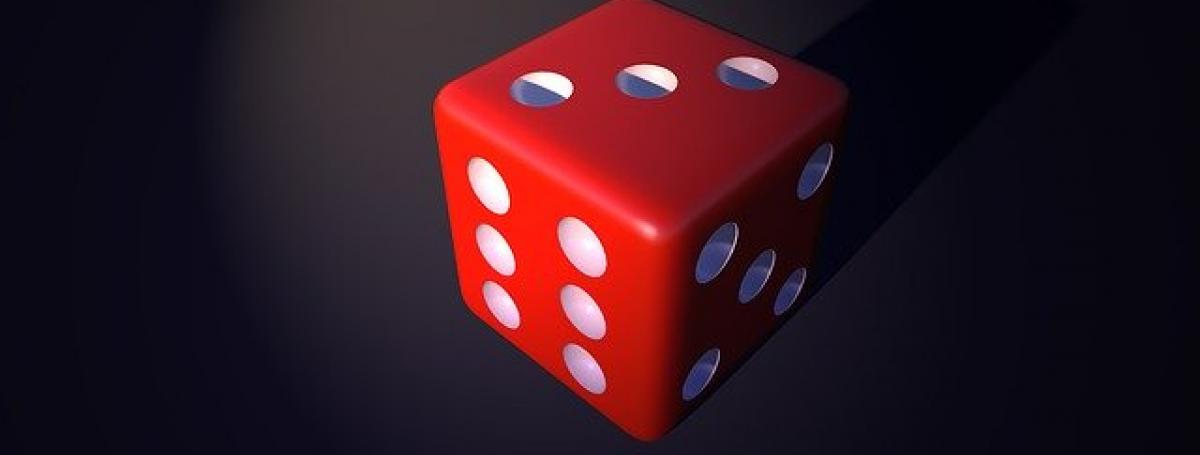 A red roll of dice.