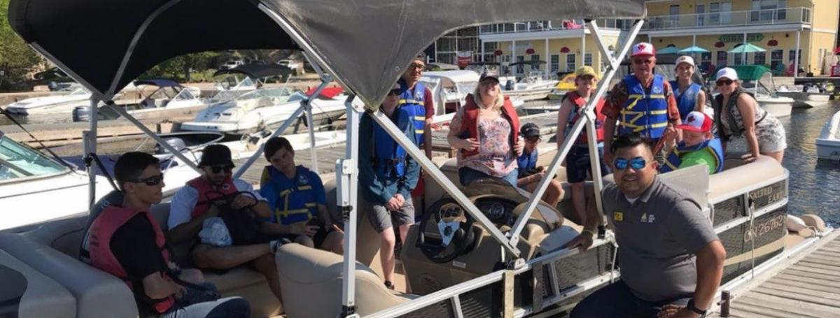 CLDP 2019 participants enjoying an ice cream run on the pontoon.