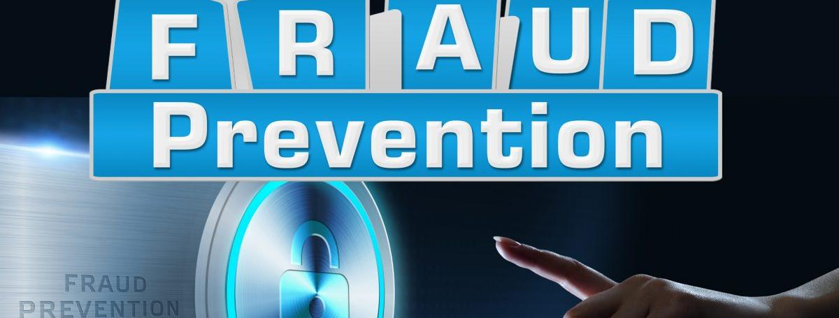 "The words ""Fraud Prevention"" above a symbol of a lock with a hand reaching out. The OPP logo is the bottom right corner."