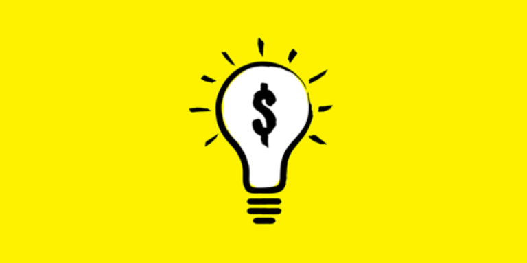 The Venture Zone logo (a lightbulb with a dollar sign inside) is shown on a yellow background.