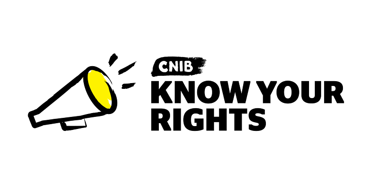 "An illustration of a megaphone. Text ""Know Your Rights"""