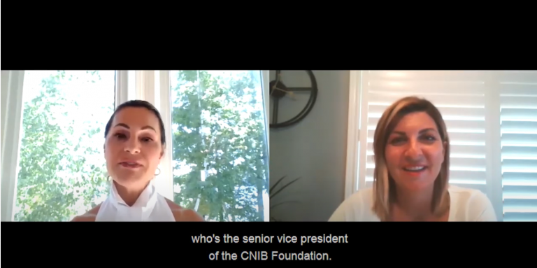 Joan Kelley Walker and Angela Bonfanti talking on a Zoom call