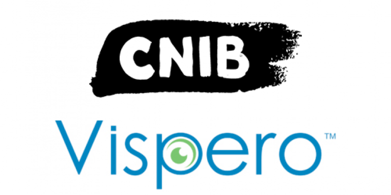 The CNIB Logo and the Vispero Logo
